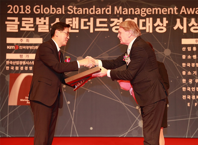 K-water receives Global Standard Best Sustainable Management Award