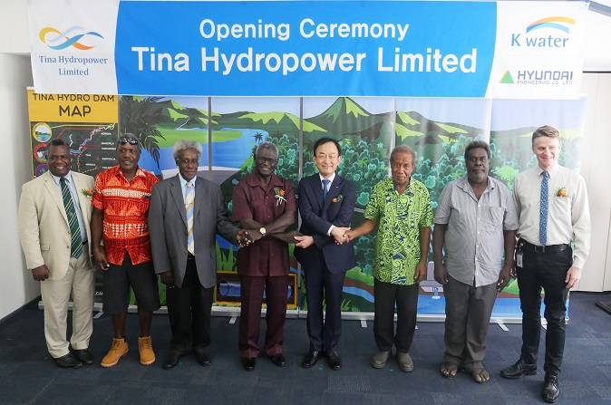 Opening Ceremony for Tina Hydropower Limited in Solomon Islands